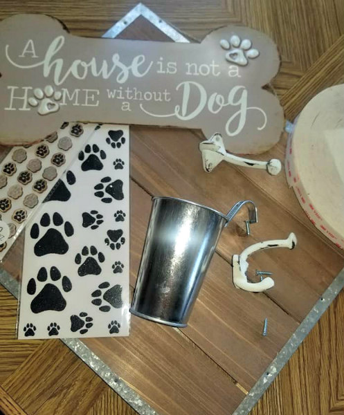 DIY Dog Supply Organizer