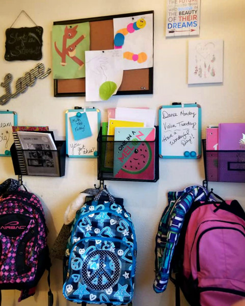 DIY Back To School Corner